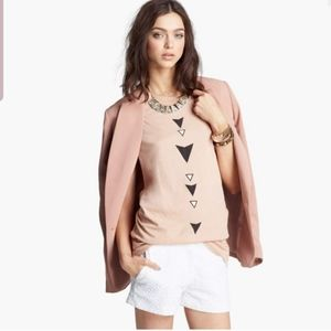 Wildfox native arrow oversized tan tank top shirt
